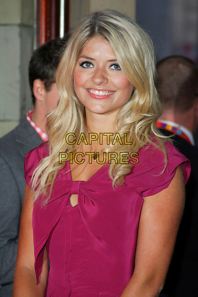 HOLLY WILLOUGHBY .Vodafone Live Music Awards 2008 at the Carling Academy, Brixton, London - September 18th 2008.portrait headshot pink bow .CAP/ROS.©Steve Ross/Capital Pictures