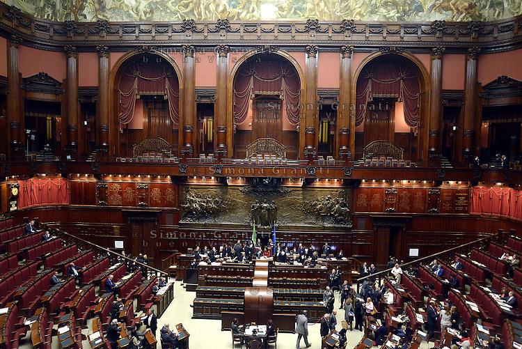 Roma, 19 Aprile 2013.Camera dei Deputati.Votazione del Presidente della Repubblica a camere riunite.Panoramica.Terzo scrutinio