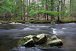 The Ducktrap River in Spring, Lincolnville, Maine, USA