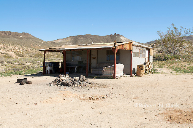 Miner's shack in El Paso Mountains, Mojave Desert, California