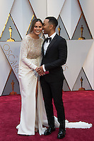 www.acepixs.com<br /> <br /> February 26 2017, Hollywood CA<br /> <br /> Model Chrissy Teigen (L) and musician John Legend arriving at the 89th Annual Academy Awards at Hollywood &amp; Highland Center on February 26, 2017 in Hollywood, California.<br /> <br /> By Line: Z17/ACE Pictures<br /> <br /> <br /> ACE Pictures Inc<br /> Tel: 6467670430<br /> Email: info@acepixs.com<br /> www.acepixs.com
