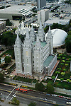Utah, Salt Lake City, Temple Square..Photo # utsalt602.  Photo copyright Lee Foster.  .