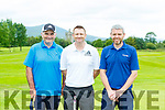 Seamus O'Brien, Niall Greaney and John Fahy at the Beaufort GC Captains day on Sunday
