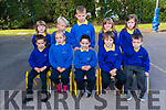 Pupils from Scoil Cheann Tra enjoying their first day at school: (f-l) Bryan Piras Ó Cíobhain, Íde Calandra, Sean Wyatt, Donncha Ó Murchú, Daniel Ó Dubhda, (b-l) Nell de Nais, Owen Mac an tSíthigh, Tommy Ó Suilleabhain, Lucy Ní Chathain, Roisín Mya Ní Chonghaile.