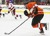 Kevin Liss (Princeton - 3) - The Harvard University Crimson defeated the visiting Princeton University Tigers 5-0 on Harvard's senior night on Saturday, February 28, 2015, at Bright-Landry Hockey Center in Boston, Massachusetts.