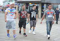 "June 01 , 2012:On The Set Of Jersey Shore ,Mike ""The Situation Sorrentino ,Paul ""Pauly D"" DelVecchio ,Vinny Guadagnino ,Ronnie Ortiz-Magro ,Seaside Heights ,New Jersey. mpi15 / Mediapunchinc"