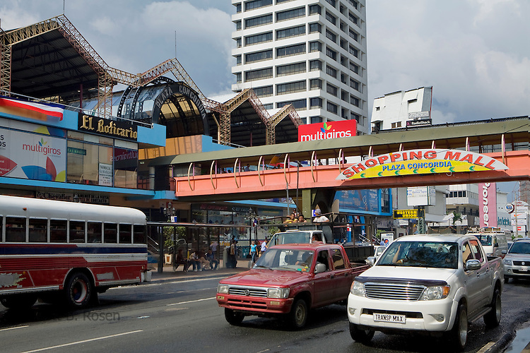 Plaza Concordia shopping mall on busy Via Espana in El Congrejo, Panama City, Panama