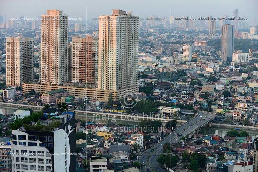 PHILIPPINES, Manila, suburban Makati, high buildings, roof gardening / PHILIPPINEN, Manila, Stadtteil Makati, Hochhaeuser, Dachgarten