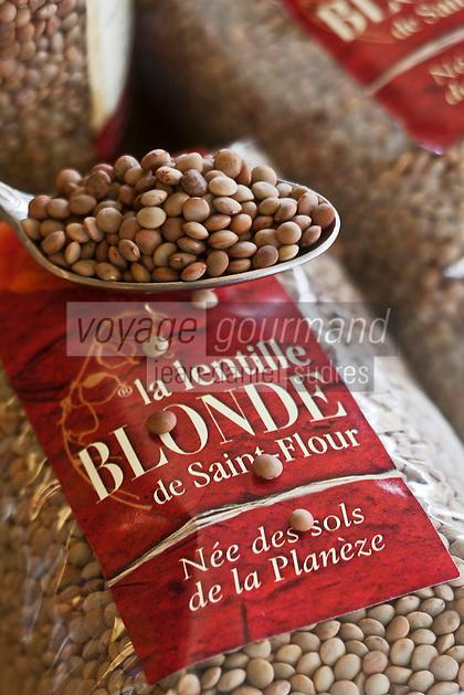 Europe/France/Auvergne/15/Cantal/Saint-Flour: Lentille blonde de la Planèze  à la  Crémerie des Lacs,