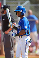Seton Hall Pirates center fielder Derek Jenkins (6) at bat during a game against the Ohio State Buckeyes on March 4, 2016 at North Charlotte Regional Park in Port Charlotte, Florida.  Ohio State defeated Seton Hall 9-3.  (Mike Janes/Four Seam Images)