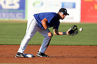 West Michigan Whitecaps Hernan Perez #5 during a game against the Clinton LumberKings at Fifth Third Ballpark on July 23, 2011 in Comstock Park, Michigan.  West Michigan defeated Clinton 2-1.  (Mike Janes/Four Seam Images)