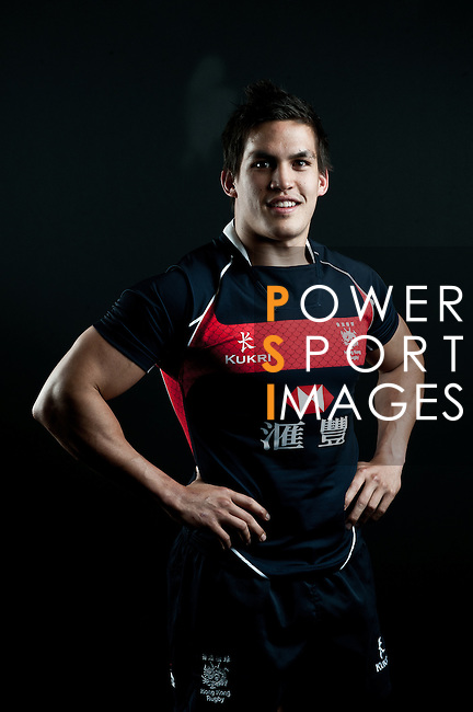 Anthony Haynes poses during the Hong Kong 7's Squads Portraits on 5 March 2012 at the King's Park Sport Ground in Hong Kong. Photo by Andy Jones / The Power of Sport Images for HKRFU