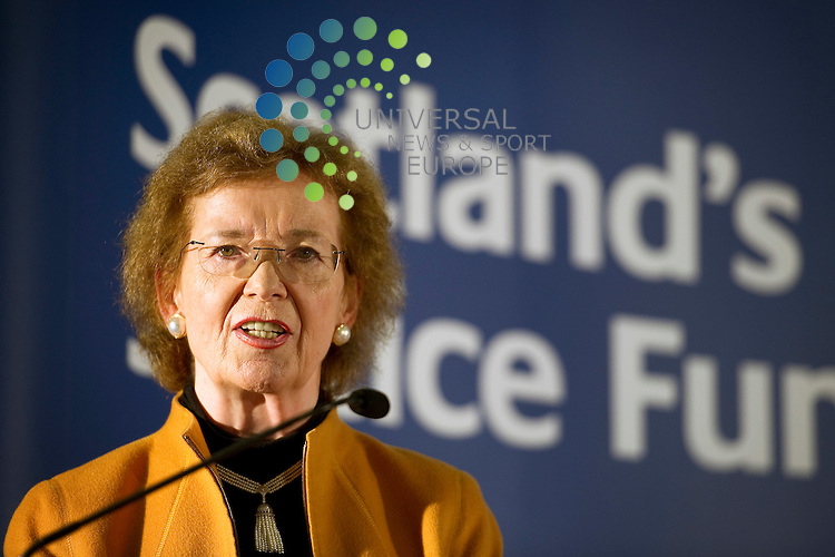 Mary Robinson, former President od Ireland and former UN High Commissioner for Human Rights with Alex Salmond, First Minister of Scotland launch Scotland's Climate Justice Fund at the Playfair Library, Edinburgh University, Scotland, 31st May, 2012.Picture:Scott Taylor Universal News And Sport (Europe) .All pictures must be credited to www.universalnewsandsport.com. (Office)0844 884 51 22.