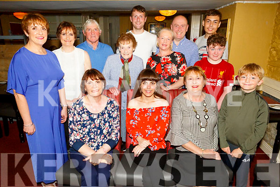 Amel Sebak from the UK celebrating her birthday with her Kerry aunts and family in the Brogue Inn on Tuesday evening.<br /> Seated l to r: Angela and Amel Sebak and Mary O'Connell.<br /> Back l to r: Bridget and Geraldine Riordan, Billy O'Connell, Sheila Riordan, Sean O'Connell, Valerie and John Riordan, Nouredine Sebak, James and Mark Riordan.