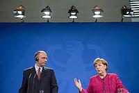 Der italienische Ministerpräsident Enrico Letta am Dienstag (30.04.13) im Bundeskanzleramt in Berlin bei einer Pressebegegnung.
