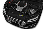 Car stock 2018 Audi S5 Base 2 Door Convertible engine high angle detail view