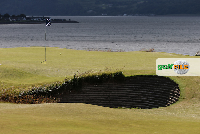 Bunker 6th green during Round One of the 2016 Aberdeen Asset Management Scottish Open, played at Castle Stuart Golf Club, Inverness, Scotland. 07/07/2016. Picture: David Lloyd | Golffile.<br /> <br /> All photos usage must carry mandatory copyright credit (&copy; Golffile | David Lloyd)