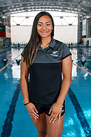 Gabrielle Fa'amausili. Swimming New Zealand Gold Coast Commonweath Games Team Announcement, Owen G Glenn National Aquatic Centre, Auckland, New Zealand,Friday 22 December 2017. Photo: Simon Watts/www.bwmedia.co.nz