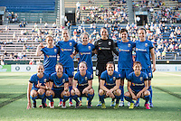Seattle, Washington - Saturday, July 2nd, 2016: Seattle Reign FC starting IX prior to a regular season National Women's Soccer League (NWSL) match between the Seattle Reign FC and the Boston Breakers at Memorial Stadium. Seattle won 2-0.