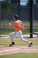 Houston Astros Carmen Benedetti (12) during a Minor League Spring Training Intrasquad game on March 28, 2018 at FITTEAM Ballpark of the Palm Beaches in West Palm Beach, Florida.  (Mike Janes/Four Seam Images)