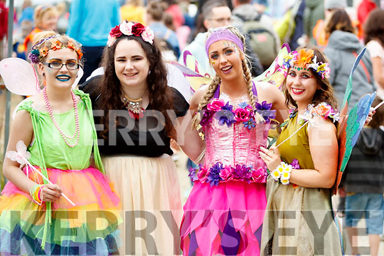 Pictured at Kilflynn Enchanted Fairy Festival on Sunday last were l-r: Chloe Moynihan, Ruth Lenihan, Becky Hussey (Sparkling Simone) and Liz Leen (Willow the Nature Fairy).