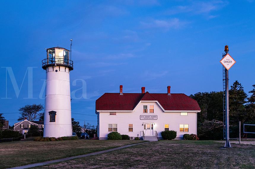 Chatham Lighthouse and Coast Guard station, Chatham, Cape Cod, Massachusetts, USA.