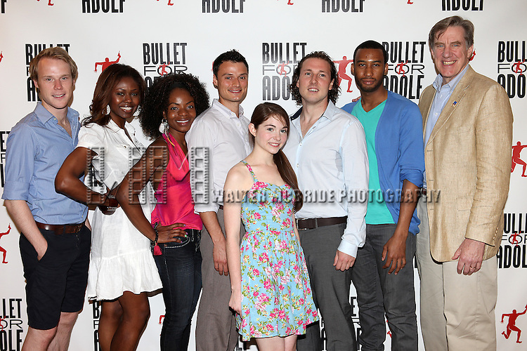 Woody Harrelson & Tyler Jacob Rollinson & Frankie Hyman & Shamika Cotton & Shannon Garland & Masha Stephanie Blake.attending the Meet & Greet for 'Bullet For Adolf' at the Snapple Rehearsal Studios in New York City on 6/26/2012 © Walter McBride / WM Photography / Retna Ltd.