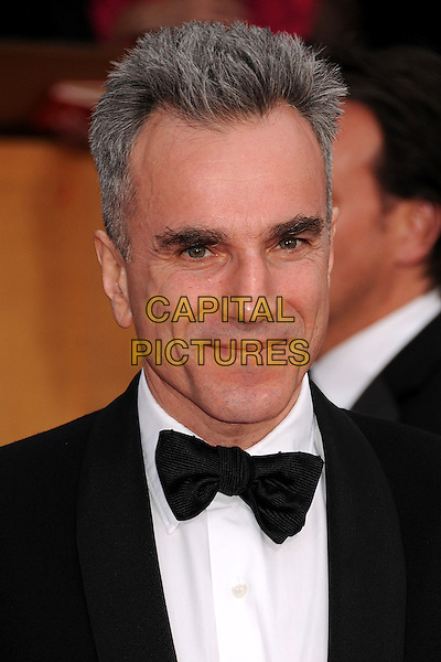 Daniel Day-Lewis.Arrivals at the 19th Annual Screen Actors Guild Awards at the Shrine Auditorium in Los Angeles, California, USA..27th January 2013.SAG SAGs headshot portrait black white bow tie tuxedo .CAP/ADM/BP.©Byron Purvis/AdMedia/Capital Pictures