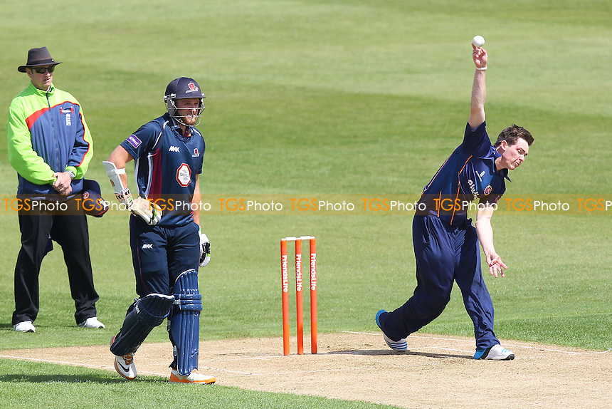 Matt Salisbury in bowling action for Essex - Northamptonshire CCC 2nd XI vs Essex CCC 2nd XI - 2nd XI T20 Cricket at the County Ground, Northampton - 09/05/14 - MANDATORY CREDIT: Gavin Ellis/TGSPHOTO - Self billing applies where appropriate - 0845 094 6026 - contact@tgsphoto.co.uk - NO UNPAID USE