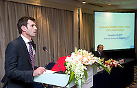 Institut Louis Bachelier (ILB)'s Session 'Sovereign Wealth Funds: a New Form of Investing' at Shanghai / Paris Europlace Financial Forum, in Shanghai, China, on December 1, 2010. Photo by Lucas Schifres/Pictobank