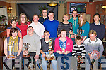 Farranfore/Maine Valley athletes who was honoured at their annual awards night in the Anvil bar, Boolteens on Friday night front row l-r: Katie O'Shea, James Nagle, Johnaton Foley, Louise Flynn, David Kenny, Arthur Fitzgerald. Back row: Agatha Ostruszka, Karen Flynn, Shane hand, Daniel Clifford, Denis Hayes, Gobnait O'Mahony collecting for her son Eamon, Ian Crowley, Maria Flynn and Niall Prenderville.