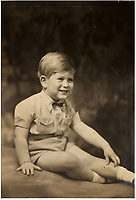 BNPS.co.uk (01202 558833)<br /> Pic: MarcusAdams/ChiswickAuctions/BNPS<br /> <br /> Prince Charles<br /> <br /> Charming childhood photos of Princess Elizabeth and Princess Margaret have come to light, including a previously unseen image of the future Queen in a kilt.<br /> <br /> The portraits, taken by acclaimed British society photographer Marcus Adams, capture the future Queen from being a baby to her adolescence.<br /> <br /> The Queen Mother would often take her daughters to his central London studio where he would set up toys and props to keep them entertained