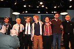 Cast of The Irish Curse - Brian Leahy - Dan Butler - Roderick Hill - Austin Peck (Days) - Scott Jaeck (BB & SB) & Matt Lenz (director) & Martin Cascella (playwright) - curtain call at the Opening Night of the off-Broadway play The Irish Curse on March 28, 2010 at the Soho Playhouse, New York City, New York. (Photo by Sue Coflin/Max Photos)