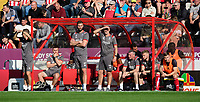 Lincoln City's first team coach Jamie McCombe, centre, and Lincoln City's first team goalkeeping coach Andy Warrington, right<br /> <br /> Photographer Chris Vaughan/CameraSport<br /> <br /> The EFL Sky Bet League One - Lincoln City v Bristol Rovers - Saturday 14th September 2019 - Sincil Bank - Lincoln<br /> <br /> World Copyright © 2019 CameraSport. All rights reserved. 43 Linden Ave. Countesthorpe. Leicester. England. LE8 5PG - Tel: +44 (0) 116 277 4147 - admin@camerasport.com - www.camerasport.com