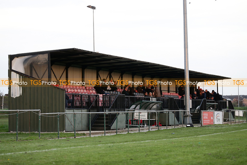The main stand during May & Baker vs Swaffham Town, Buildbase FA Vase Football at Gale Street on 4th November 2018