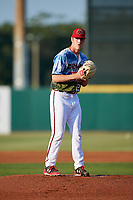 Florida Fire Frogs starting pitcher Joey Wentz (26) gets ready to deliver a pitch during a game against the St. Lucie Mets on April 19, 2018 at Osceola County Stadium in Kissimmee, Florida.  St. Lucie defeated Florida 3-2.  (Mike Janes/Four Seam Images)