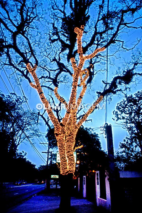 Enfeites natalinos, bairro Jardins. São Paulo. 1996. Foto de Manuel Lourenço.