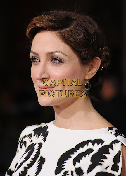 "SASHA ALEXANDER.""He's Just Not That Into You"" Los Angeles Premiere at Grauman's Chinese Theatre, Hollywood, California, USA..February 2nd, 2009.headshot portrait black white pattern .CAP/DVS.©Debbie VanStory/Capital Pictures."