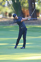 Thorbjorn Olesen (DEN) in action on the 13th during Round 2 of the ISPS Handa World Super 6 Perth at Lake Karrinyup Country Club on the Friday 9th February 2018.<br /> Picture:  Thos Caffrey / www.golffile.ie<br /> <br /> All photo usage must carry mandatory copyright credit (&copy; Golffile | Thos Caffrey)