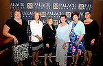 WATERBURY, CT-091318JS12--Moira Graham-Mehmet; Peggy Martin; Joyce DeCesare; Jane Coone; Diane Ploch and Marylou Cunningham at the inaugural &quot;Thank You&quot; receipting for the founding members of the new Palace Theater Marquee Society of Women at the Palace Theater's Pool Club. <br /> Jim Shannon Republican American