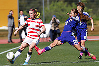 Parchal, Portugal - Wednesday, March 5, 2014: The USWNT and the National team of Japan played to 1-1 draw during their Algarve Cup opening match at Bela Vista stadium.