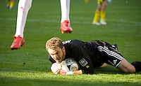 William Hesmer covers the ball during MLS Cup 2008. Columbus Crew defeated the New York Red Bulls, 3-1, Sunday, November 23, 2008. Photo by John Todd/isiphotos.com