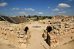 Israel, Shephelah, Beth Guvrin national park, the Roman amphitheater was intended for fighting between gladiators and wild animals