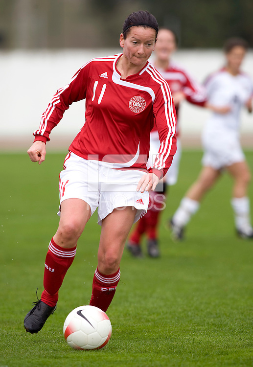 Merete Pedersen. The USWNT defeated Denmark, 2-0, in Lagos, Portugal during the Algarve Cup.
