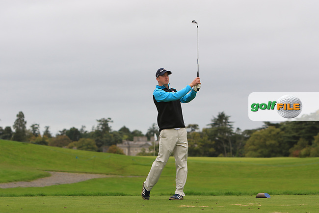 Sean Poucher (Limerick) on the 2nd tee during the AIG Senior Cup Final of the AIG Cups &amp; Shields Finals at Carton House Golf Club, Maynooth, Co Kildare. 23/09/2017<br /> Picture: Golffile | Thos Caffrey<br /> <br /> <br /> All photo usage must carry mandatory copyright credit     (&copy; Golffile | Thos Caffrey)