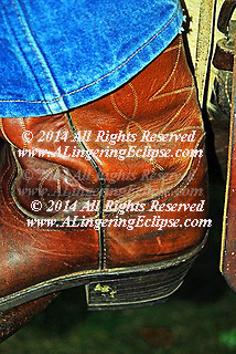 Detail of a Cowboy Boot , Hand stitched , Handmade