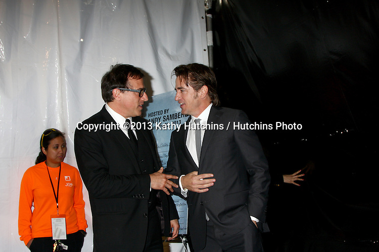 LOS ANGELES - FEB 23:  David O. Russell, Dermot Mulroney in the press room of the 2013 Film Independent Spirit Awards at the Tent on the Beach on February 23, 2013 in Santa Monica, CA