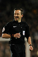 Referee, Keith Stroud during the Sky Bet Championship match between Fulham and Sheff United at Craven Cottage, London, England on 6 March 2018. Photo by Carlton Myrie.
