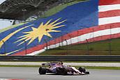 30th September 2017, Sepang, Malaysia;  FIA Formula One World Championship 2017, Grand Prix of Malaysia, #11 Sergio Perez (MEX, Sahara Force India F1 Team)
