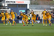 17th March 2019, The Den, London, England; The Emirates FA Cup, quarter final, Millwall versus Brighton and Hove Albion; Brighton and Hove Albion players celebrate after Goalkeeper Matthew Ryan of Brighton & Hove Albion saves a penalty during the Penalty shoot out to book Brighton and Hove Albion into the FA Cup Semi Final